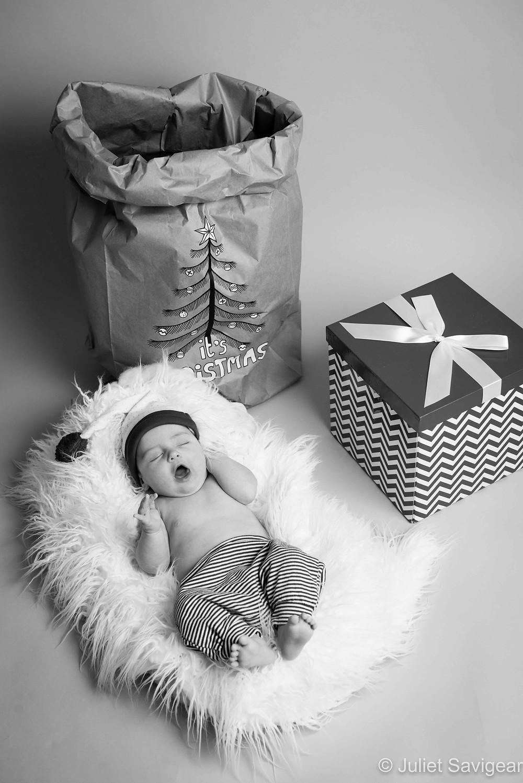 Christmas Baby - Newborn Baby Photography, Canary Wharf
