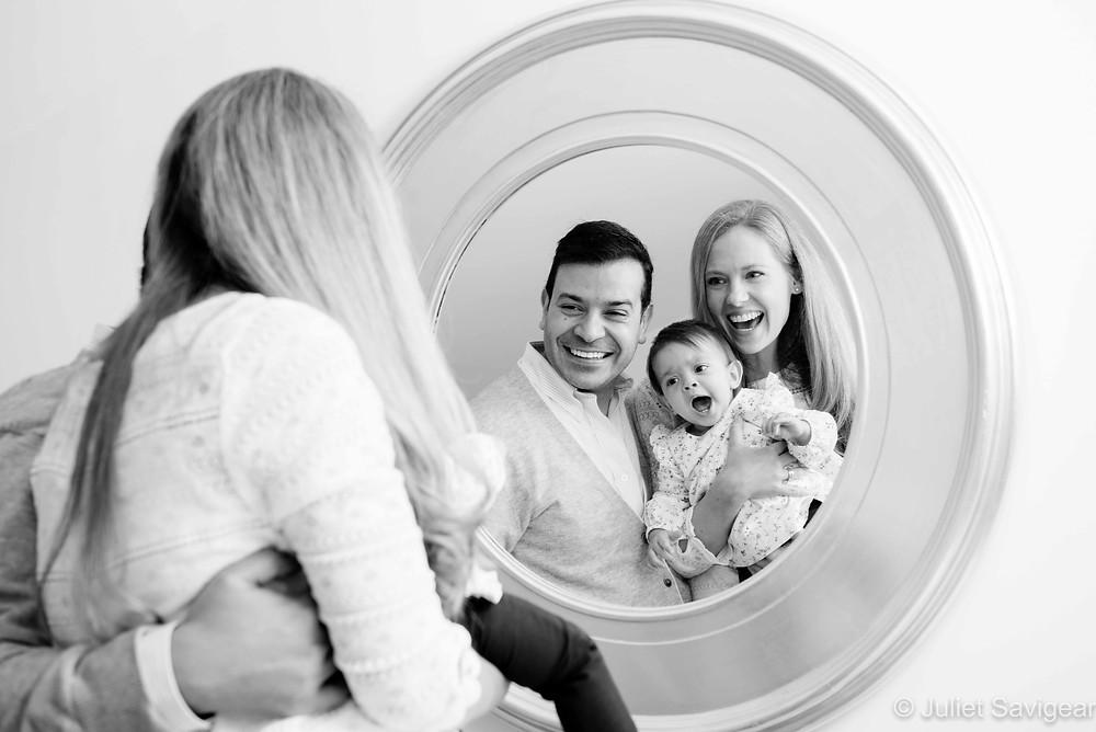 Family portrait reflections