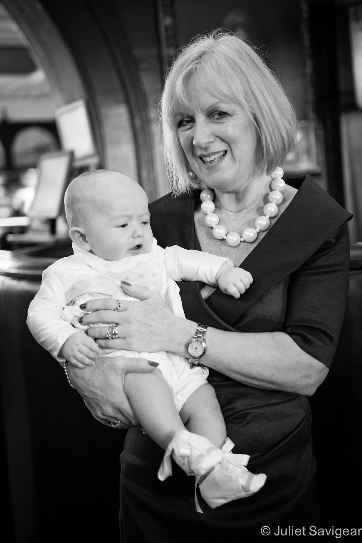 Christening Photography - Grandmother & baby - Balham