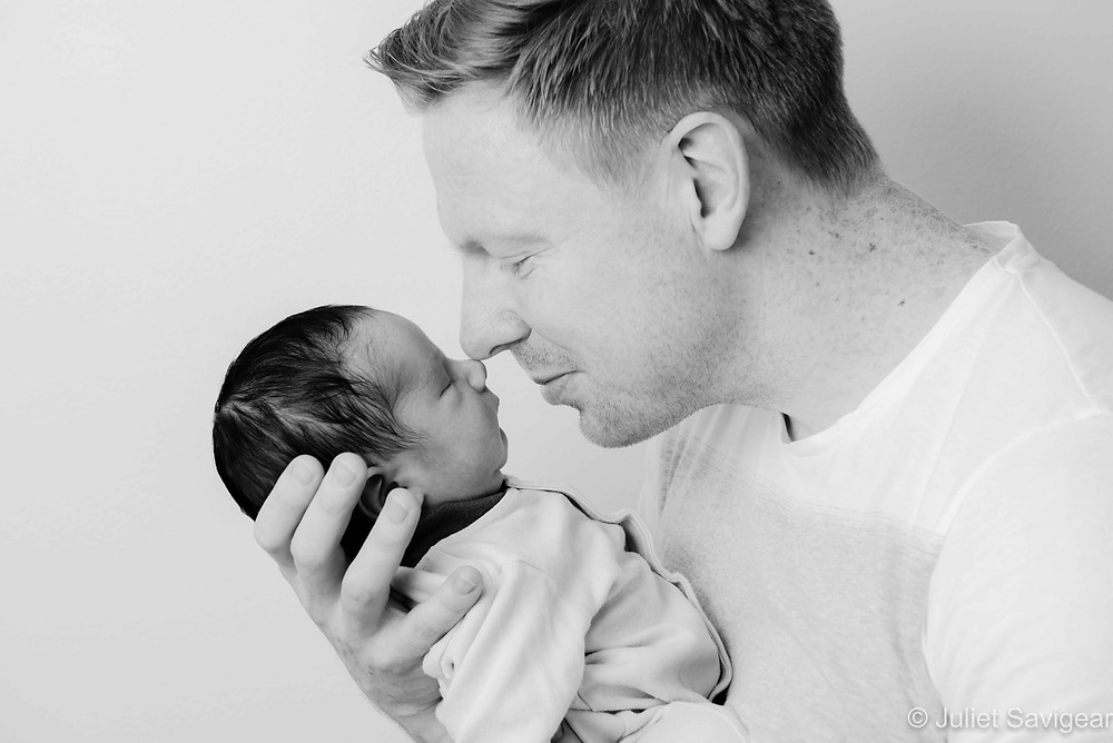 Daddy Nose To Nose With Baby