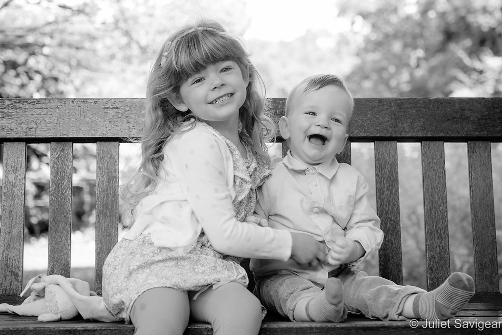 Brother & sister on the bench