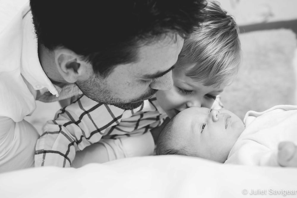 Kissing baby