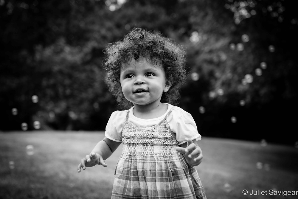 Bubbles In The Air - Toddler Photography, Surrey Quays, London, SE16