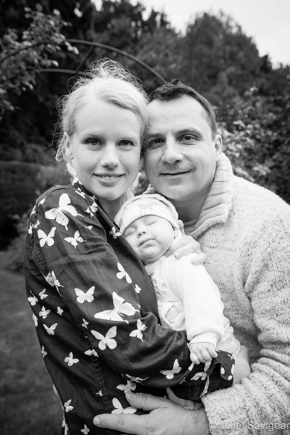 Family Portrait In The Garden - Baby & Family Photography, Orpington