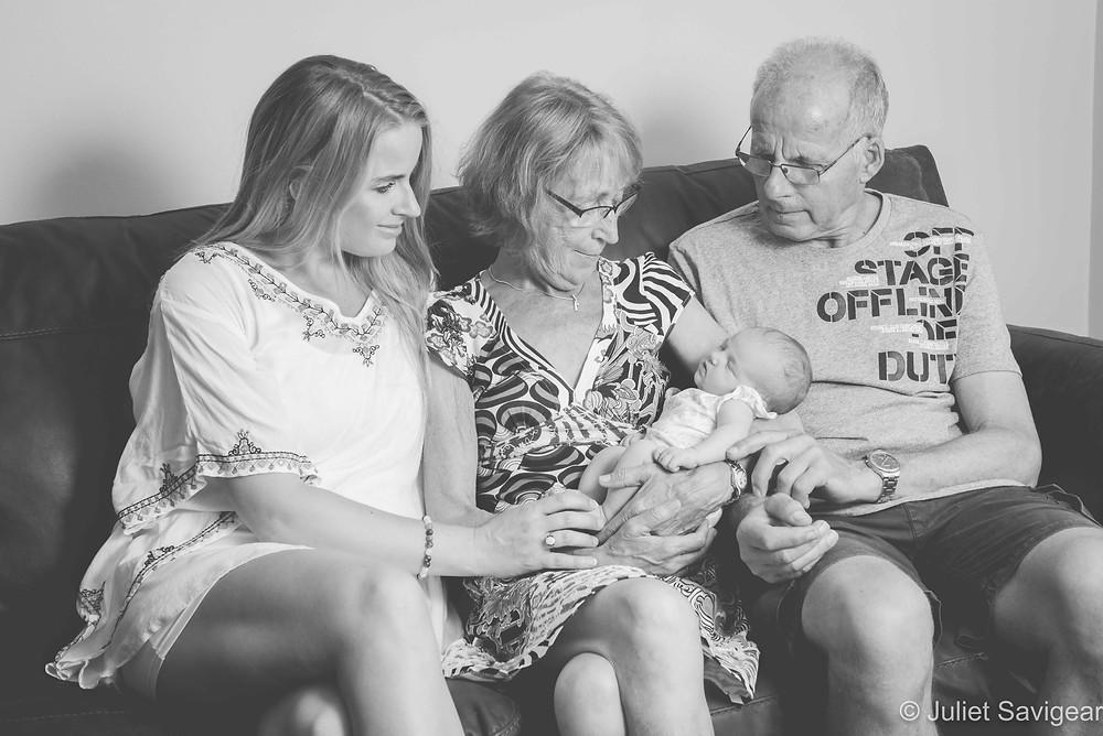 Family portrait with grandparents