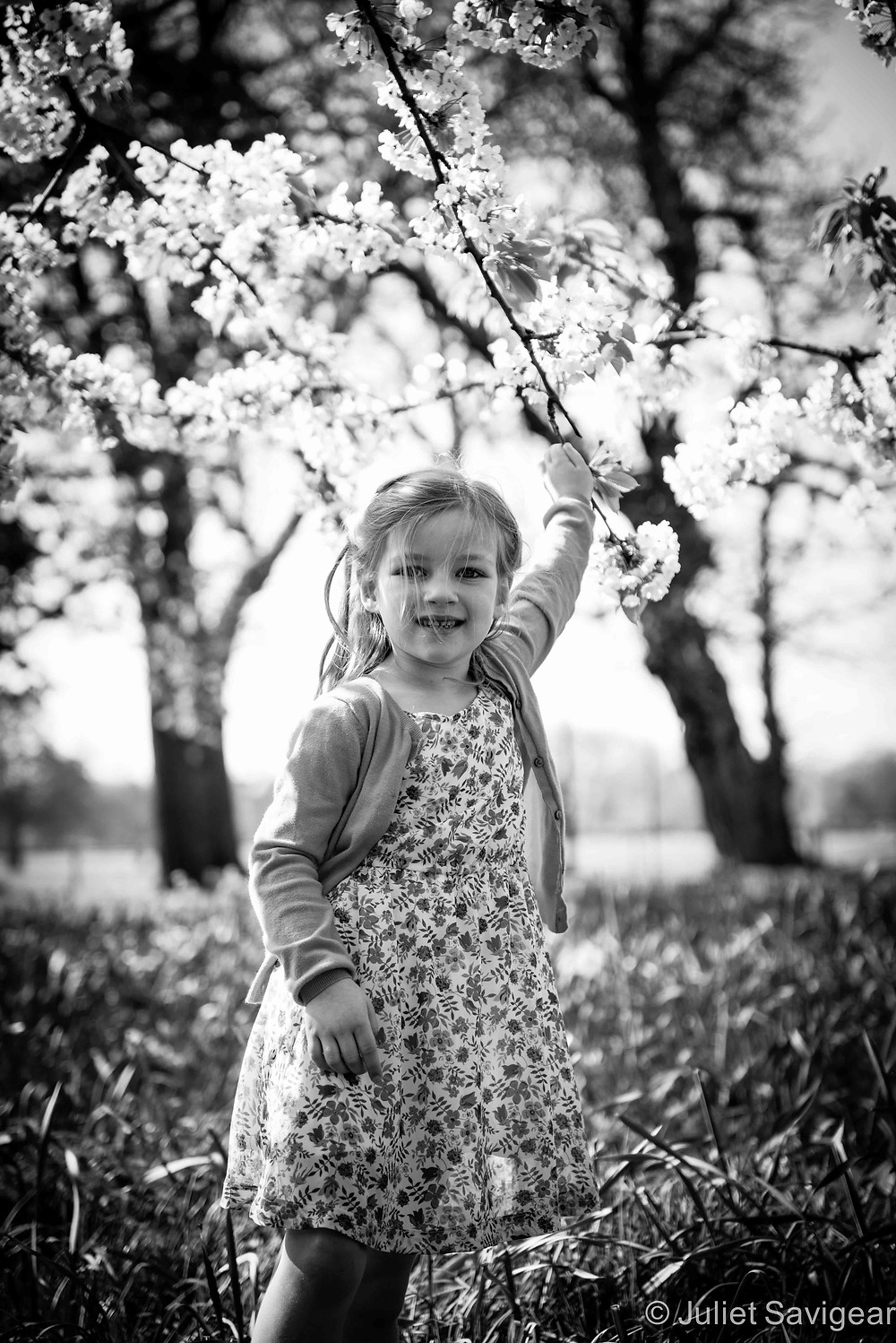 Blossom Branches - Children's Photography, Clapham Common