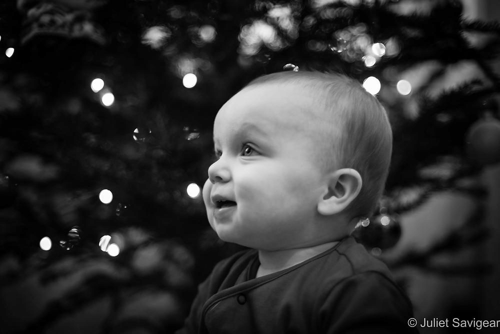 Christmas Tree Lights - Christmas Baby Photography, Leyton