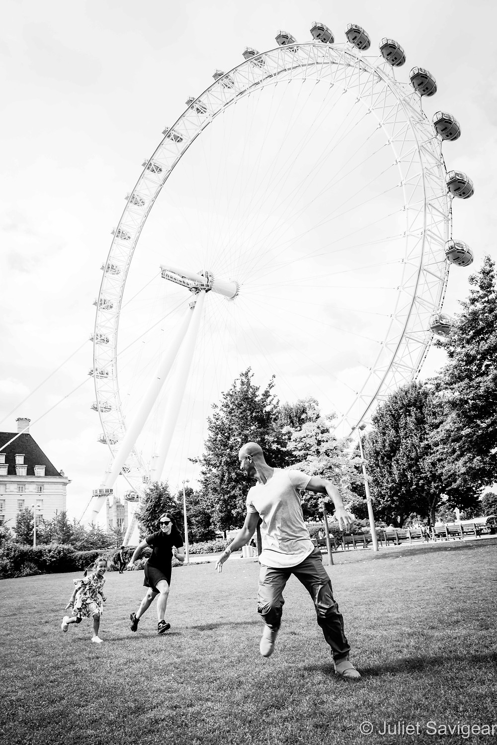 Family fun by the London Eye