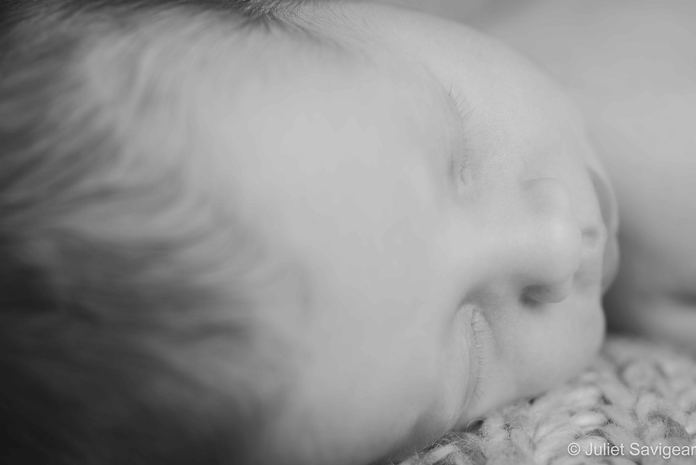 Close up on baby's face