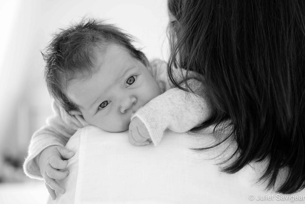 Baby On Mummy's Shoulder
