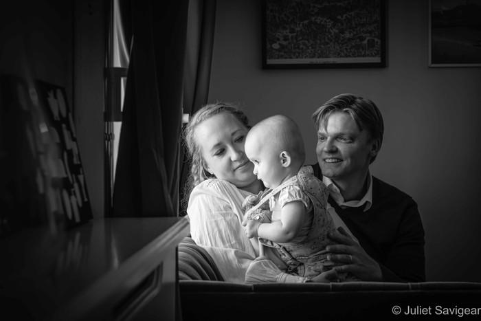 Natural Baby & Family Photo Shoot At Home - Pimlico