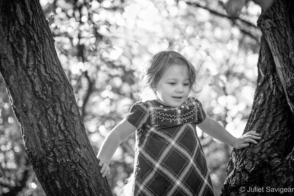 Child in the trees