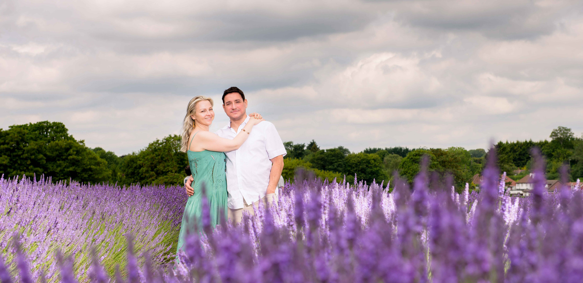Couple In The Lavender Fields