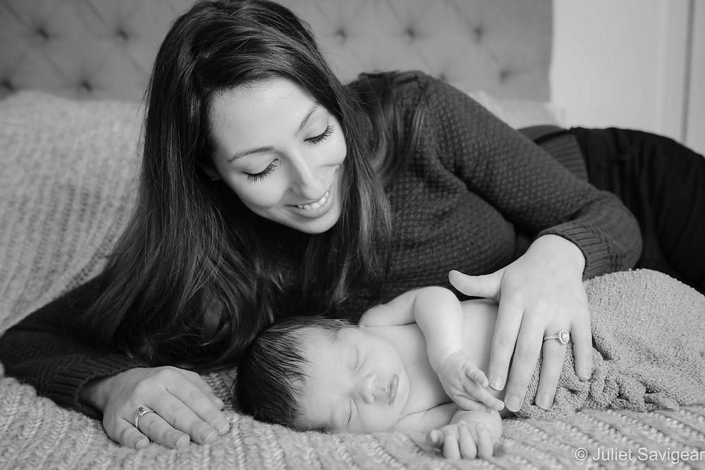 Mother's Caress - Newborn Baby Photography - Streatham