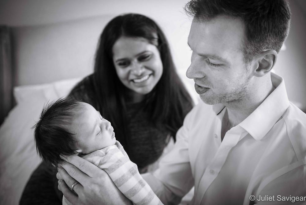 Joy With New Baby