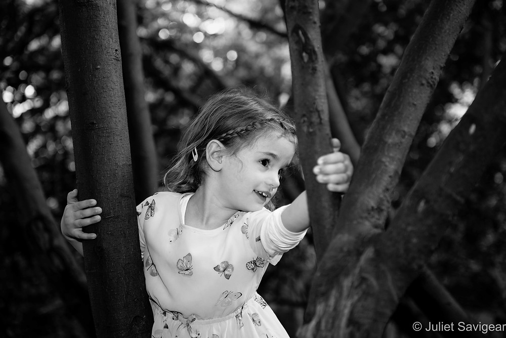 Child in the tree