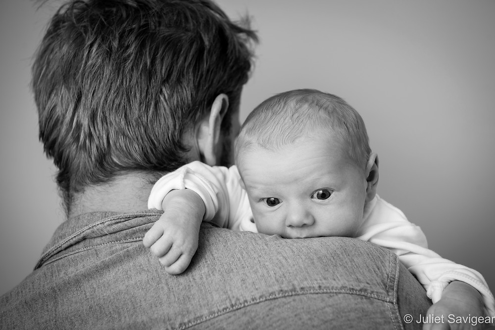 On The Shoulder - Newborn Baby Photographer, Clapham South