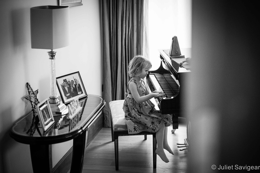 At The Piano - Children's Photography, Purley