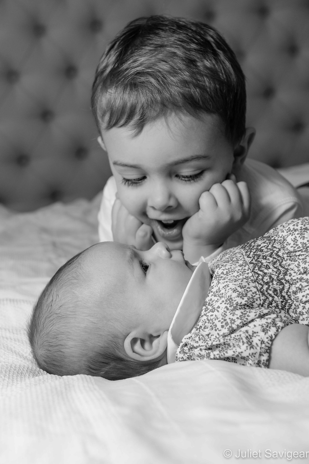 Brother with his baby sister