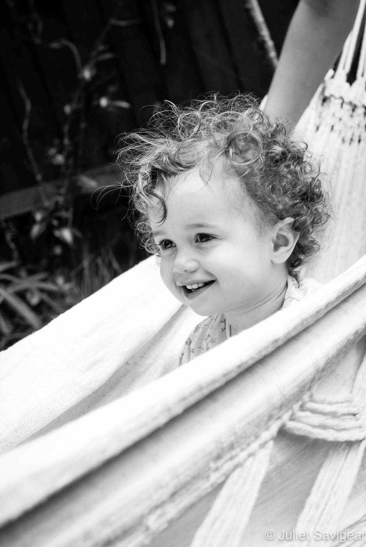 In The Hammock - Children's Photography, Clapham