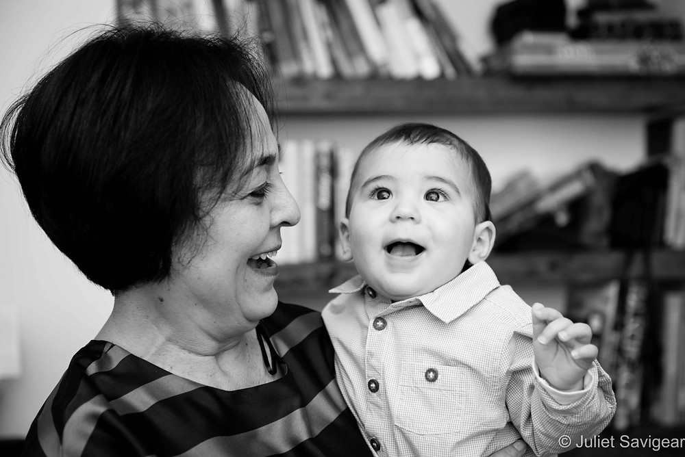 Smiles - Grandma With Baby Boy