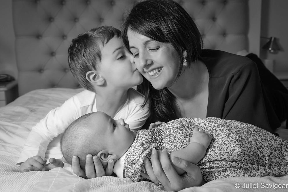Mummy with her children