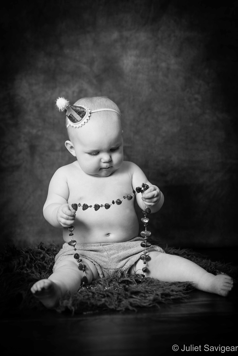 Baby & bead necklace