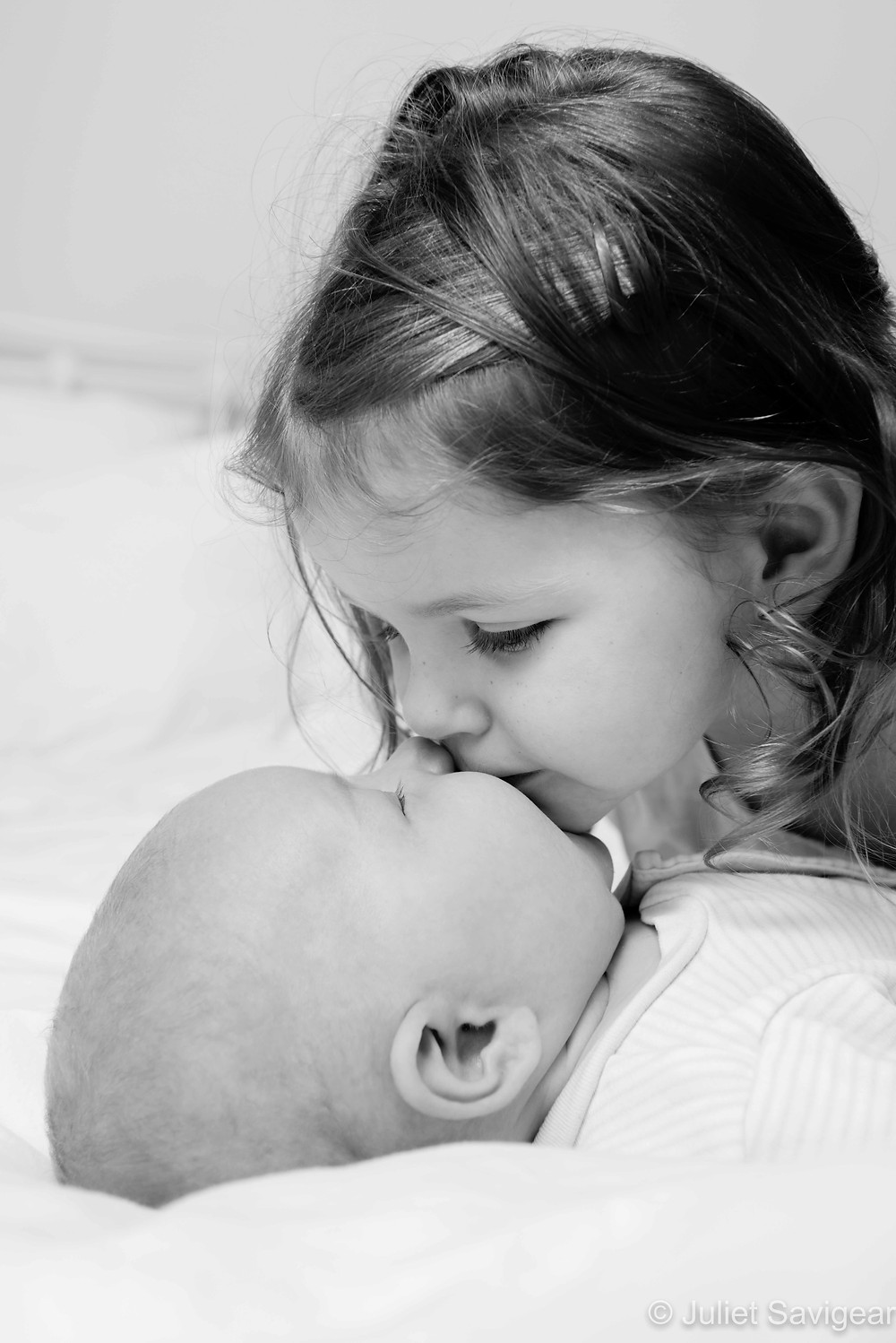 A big kiss for my baby brother