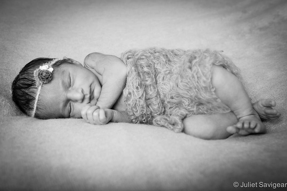 Sleeping Baby Girl - Newborn Baby Photography, Brixton