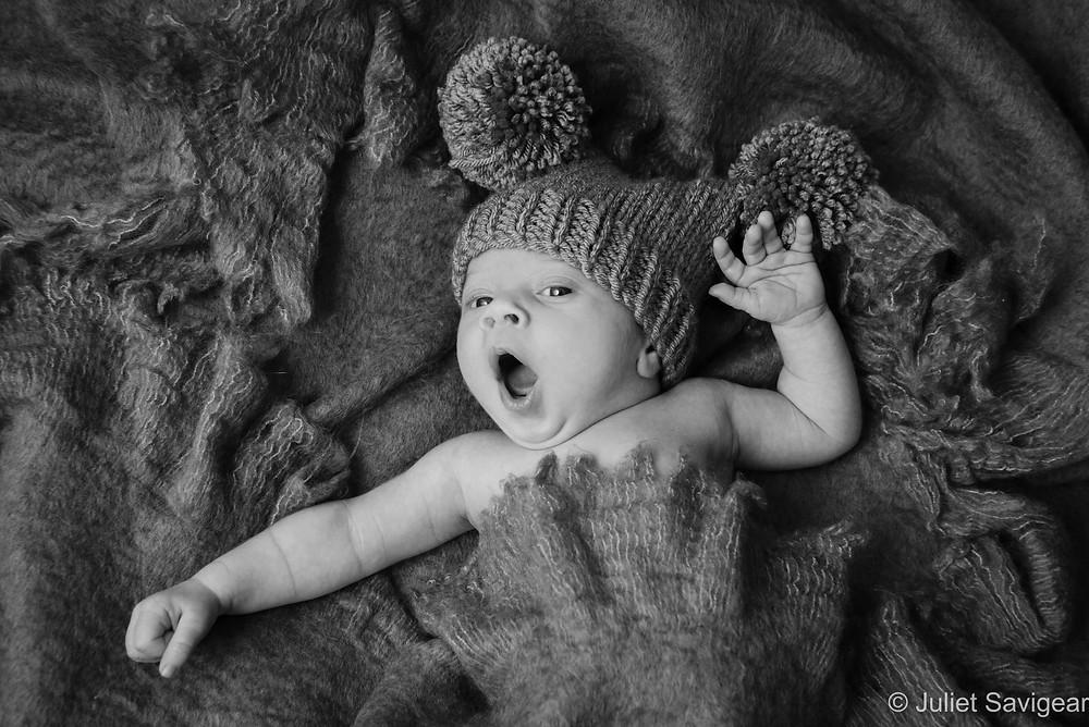 Big Yawn! Newborn Baby Photography - Streatham