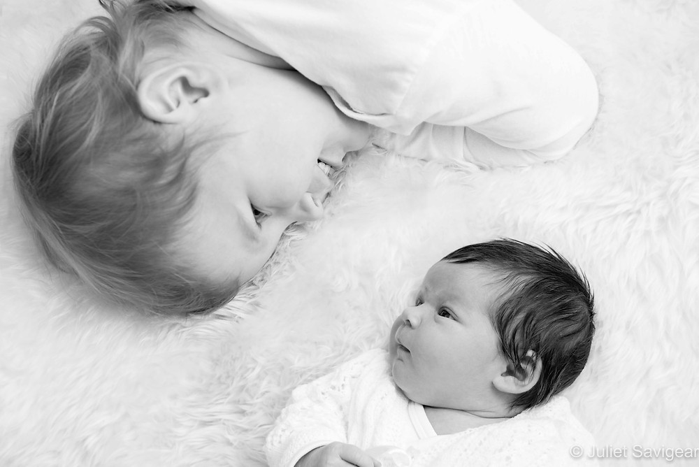 Brother & Sister - Newborn Baby Photography, Dulwich