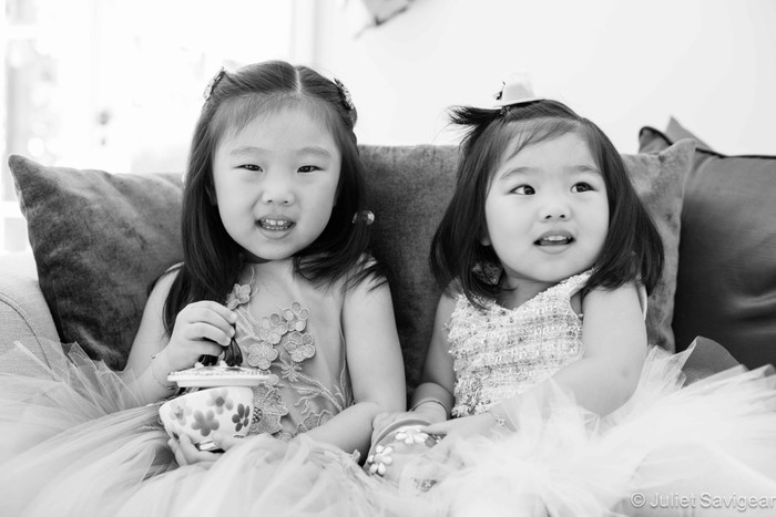 Three Sisters & A Birthday - Children's Photographer - St Johns Wood