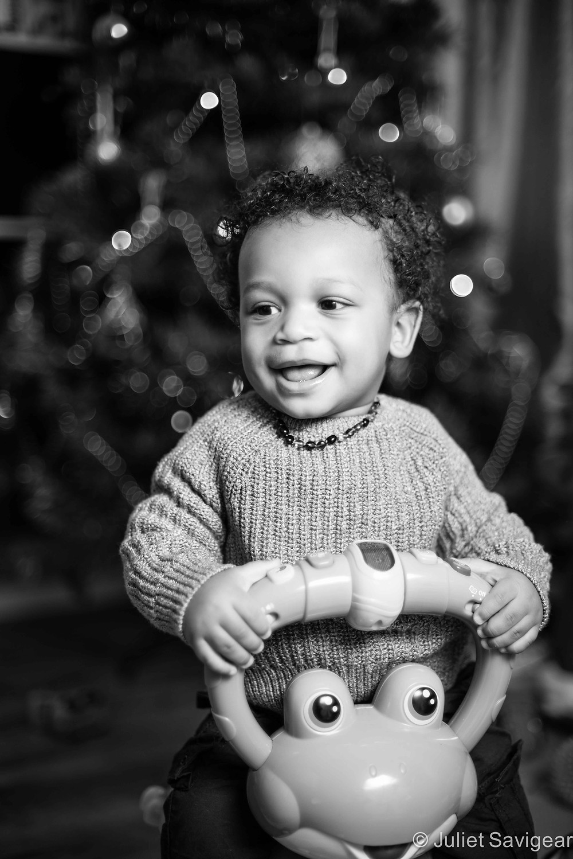 Christmas Smiles - Christmas Boy - Children's Photography, Brixton