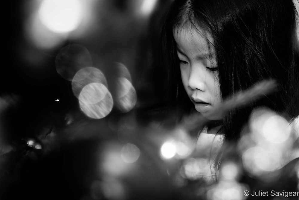 Christmas Lights - Children's Photography - Parsons Green