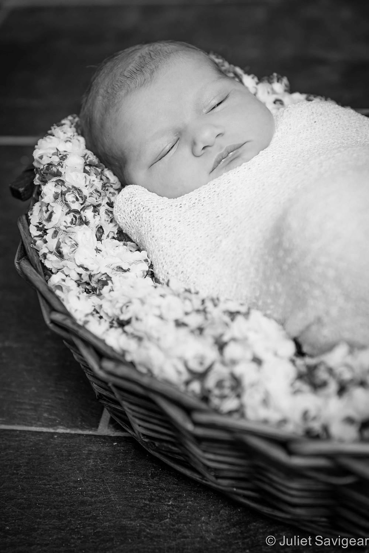 Sleepy Baby - Newborn Baby Photography, Barnes