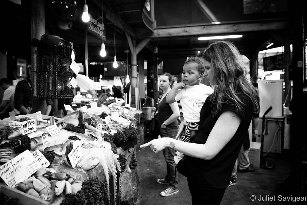 Fish Stall, Borough Market - Family Photographer, London