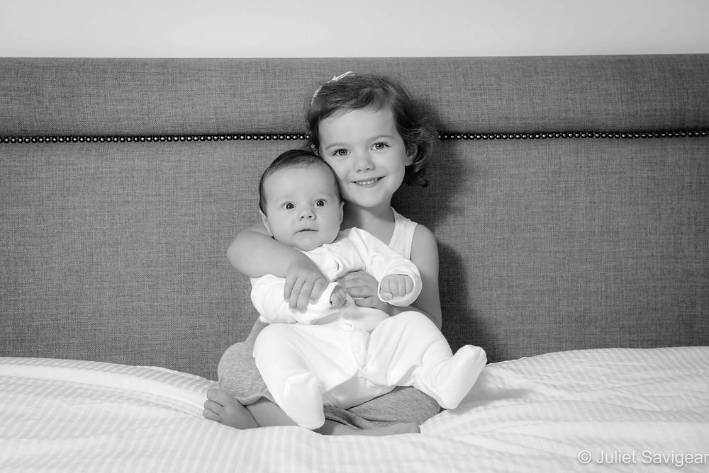 Sibling photos at home