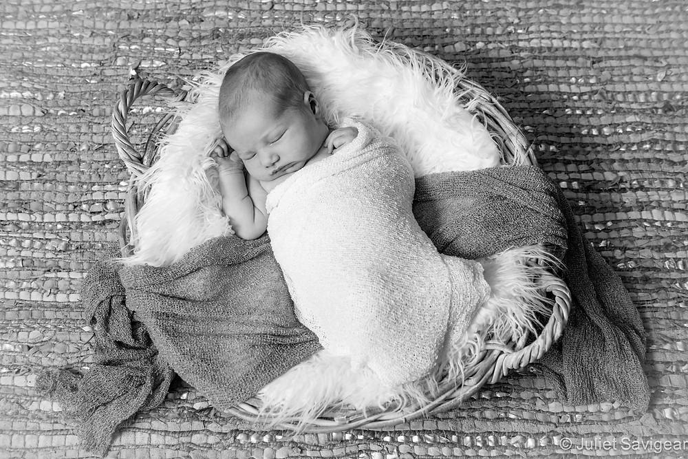 Baby In A Basket II - Newborn Baby Photography, Barnes