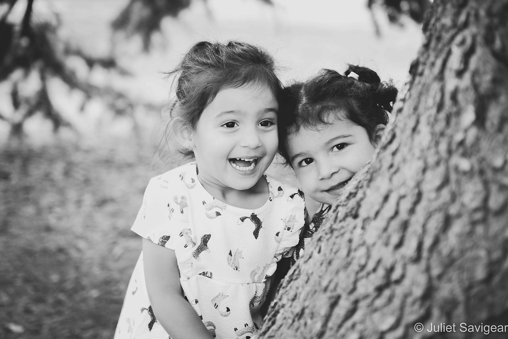 Hide & Seek with twin children