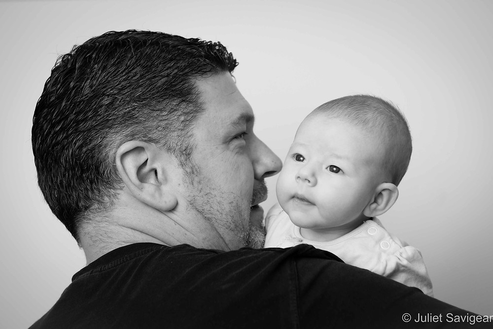Daddy's Shoulder - Baby Photography - Palmers Green