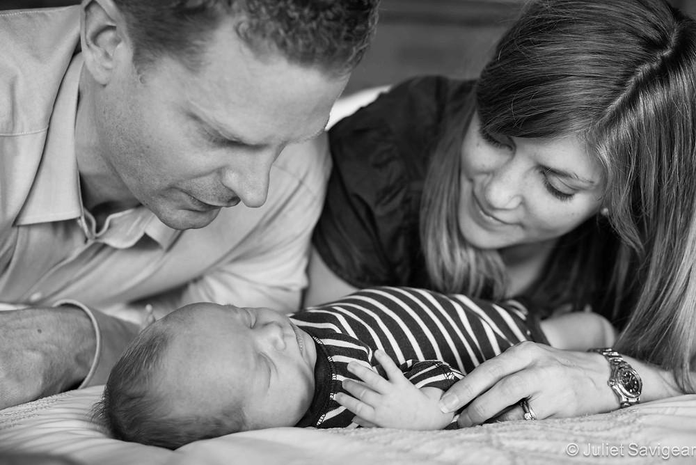 Family Photo - newborn baby photo shoot - Clapham North