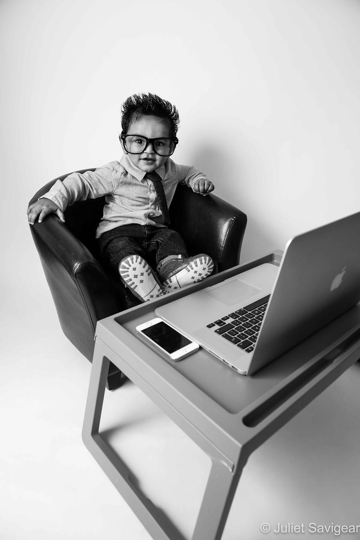 Office Boy - Baby Photography, Mitcham