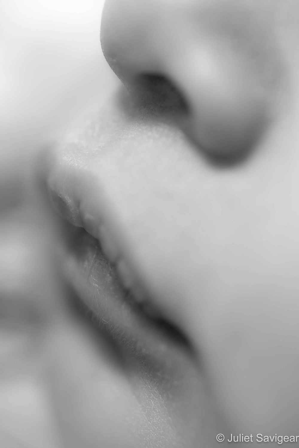Close up on baby's mouth