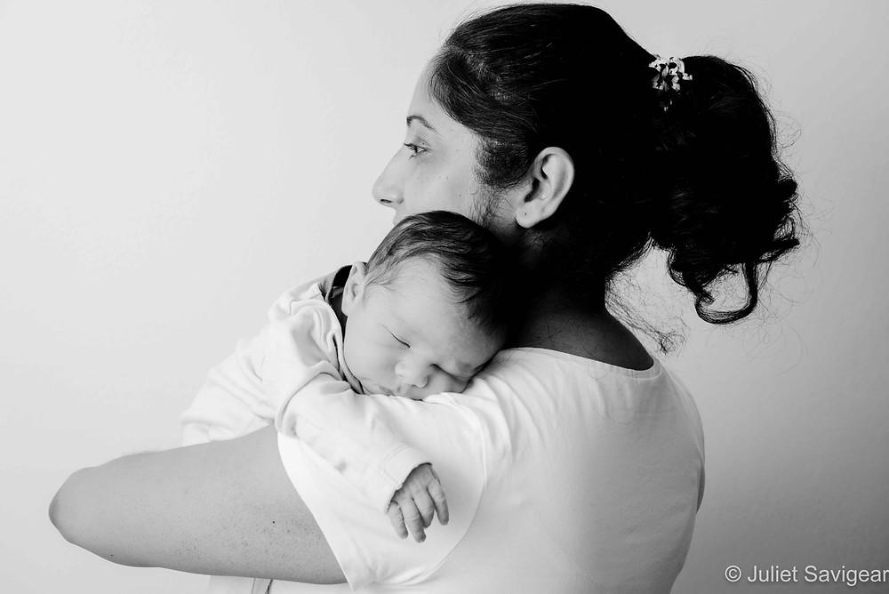 Baby Over Mummy's Shoulder
