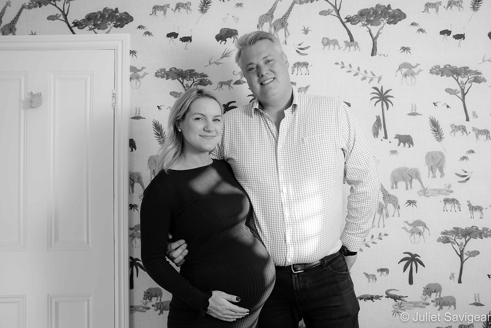 Maternity photography at home