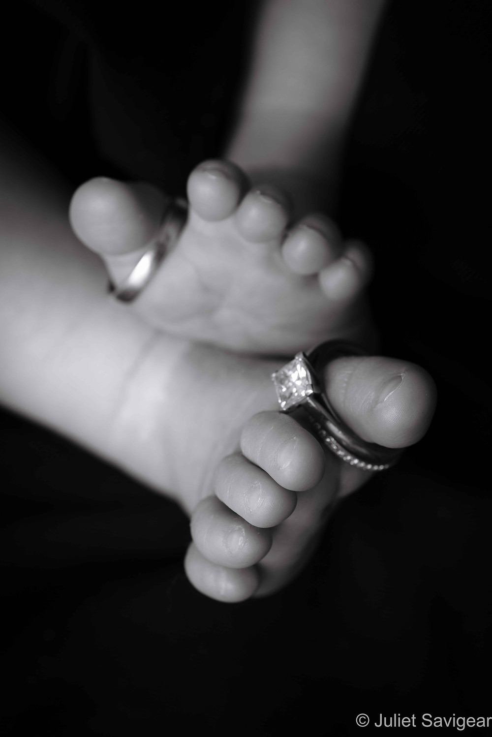 Baby Feet With Wedding Bands