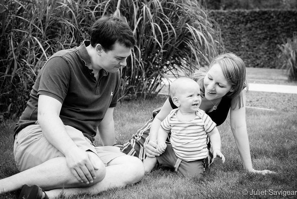 Family portrait in the garden