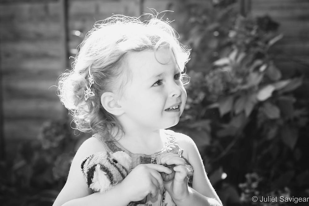 Children's photography in the garden