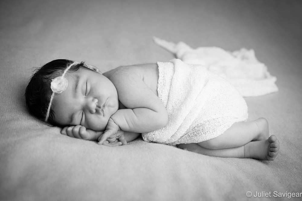 Sleeping Girl - Newborn Baby Photography, London