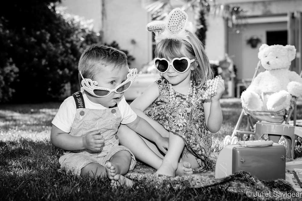Children in sunglasses